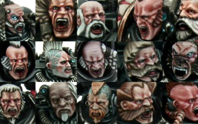 Painting Space Wolves Faces with Rafael Mattick